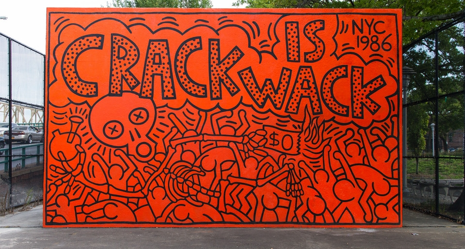 Keith Haring,  Crack is Wack , 1986 | Image courtesy of Bobby Zucco