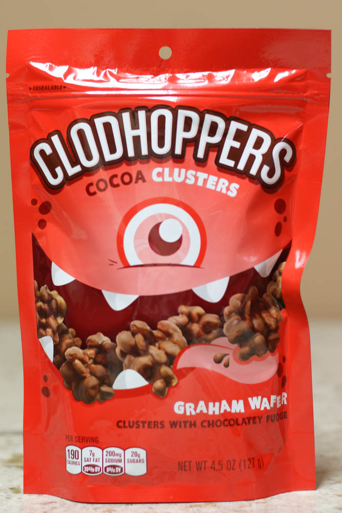 CLODHOPPERS COCOA CLUSTERS GRAHAM WAFER (CLUSTERS WITH CHOCOLATELY FUDGE)