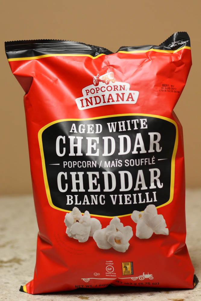 Popcorn Indiana Aged White Cheddar Popcorn  Stoltzfus Family Market-5.75 oz for $0.89 Walmart-6.5 oz for $3.50