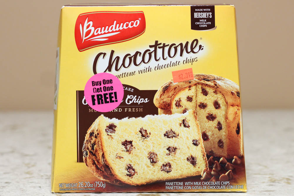 Bauducco Chocottone Specialty Cake with Chocolate Chips  Stoltzfus Family Market-BUY ONE FOR $2.39 & GET ONE FREE Amazon-$18.95 a piece