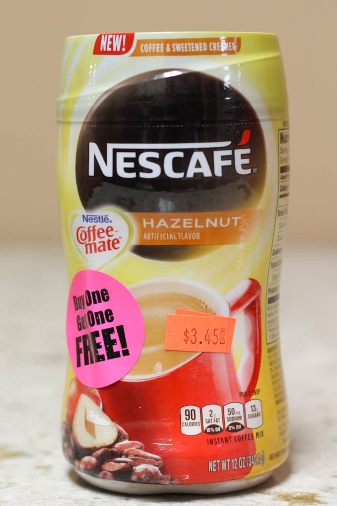 Nescafe Hazelnut Instant Coffee Mix  Stoltzfus Family Market-BUY ONE FOR $3.45 & GET ONE FREE