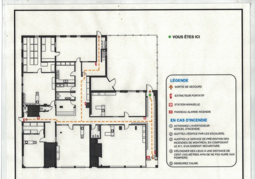 Plan du Garderie