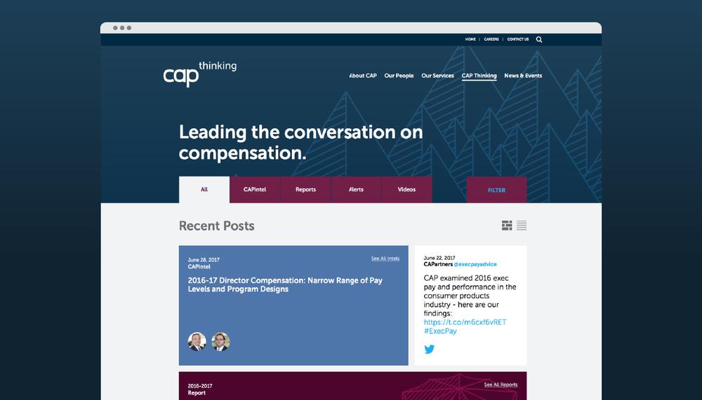 """CAP Thinking"" landing page"