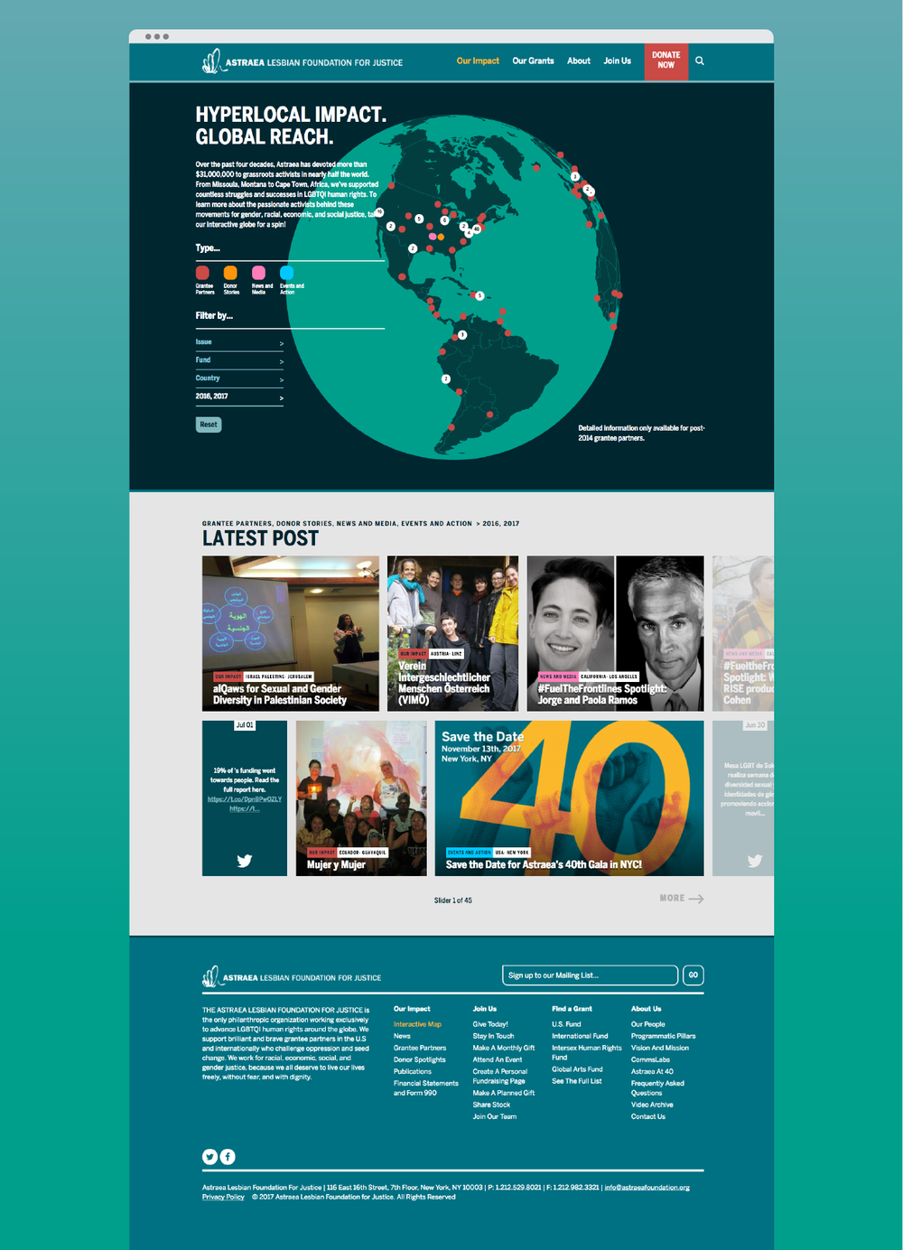 """Our Impact"" full-page view"