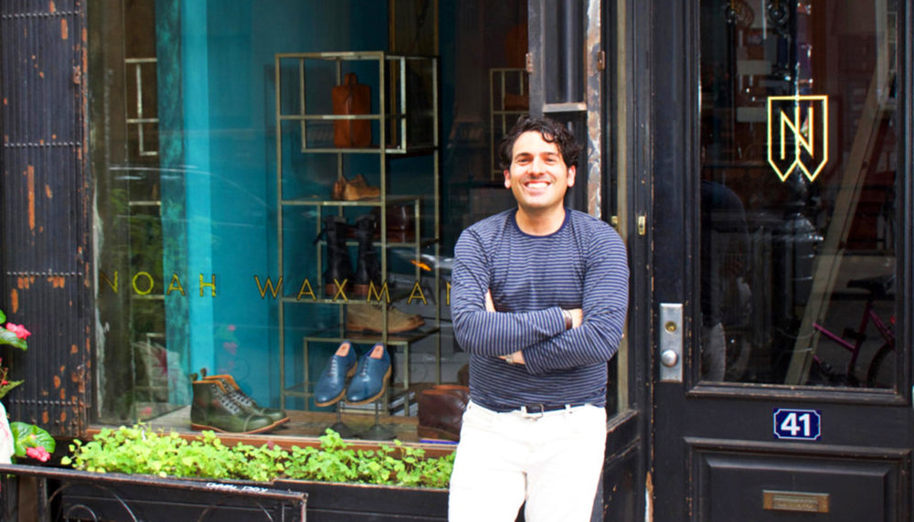 Newly opened Noah Waxman boutique in the West Village, featuring new monogram and logotype