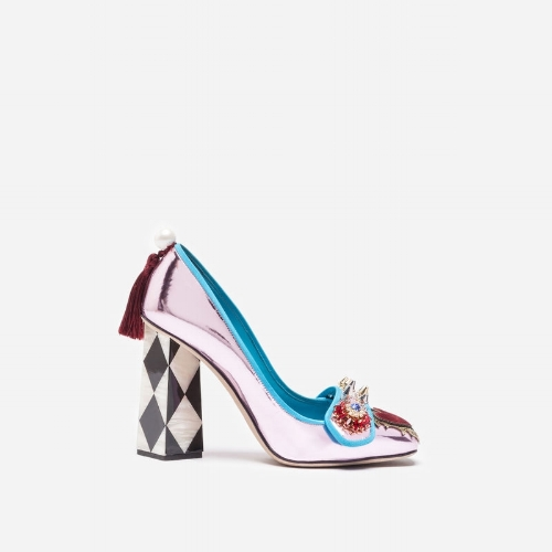 Dolce Gabbana  - Leather Pumps with Applique