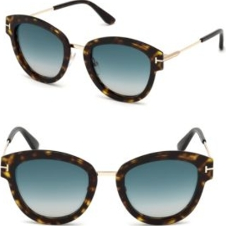 Tom Ford Mia Cat Eye Sunglasses   A sharp design and gradient lenses add to the modern style of Italian cat-eye sunglasses from Tom Ford. Perfect for resort season, the Mia is both playful and stylish. Crafted from lightweight metal, these sunglasses boast gradient nylon lenses.