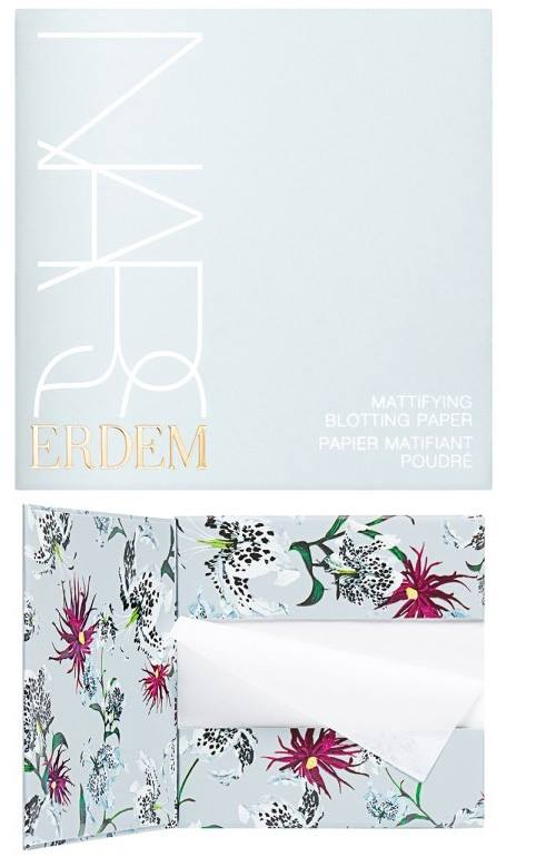 Erdem I NARS Mattifying Blotting Paper.   Yes, you can get blotting papers at your local pharmacy, but does the packaging look like a work of art? Probably not. We are suckers for beautiful packaging.