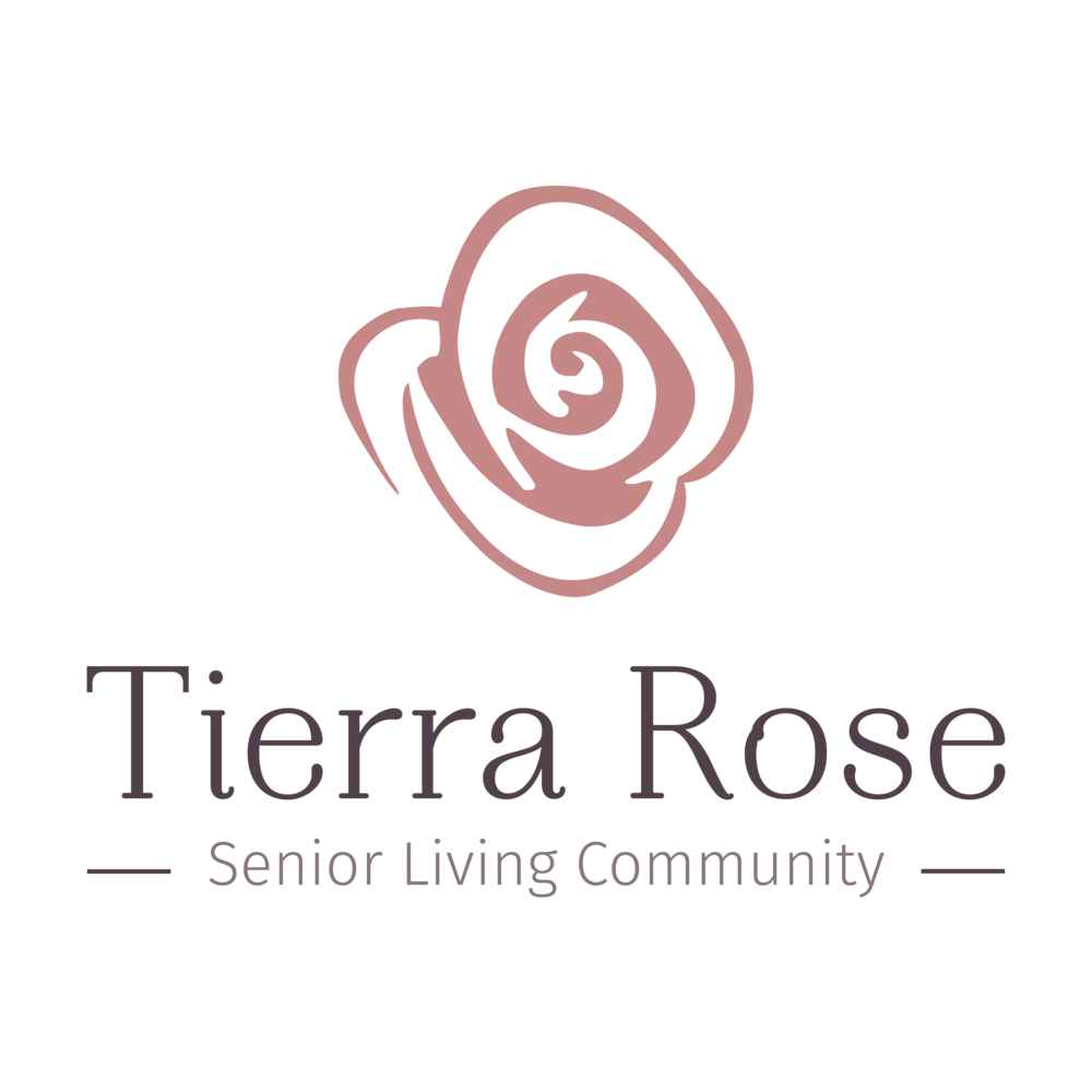 Tierra Rose Senior Living Community - Salem, Oregon. Logo created by BrightlyandCo.com