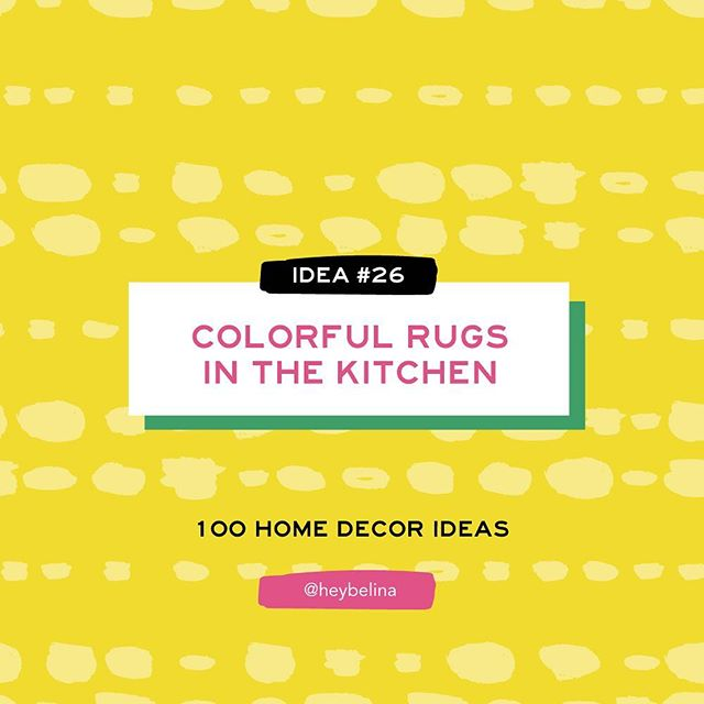 26/100 - Home Decor Idea #26: COLORFUL RUG IN THE KITCHEN! ✨🌈 . . #heybelina #100dayproject #100homedecorideas #homedecor #homedecoration #homedecortips
