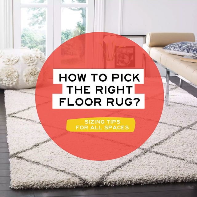 You found the perfect rug for your living room or bedroom but have no clue which size to buy? 😅🤷🏻‍♀️ . The first thing you need to analyze is the size and shape of your room. 🙋‍♀️ . Here are a few basic tips to follow, to make your room look its best! ✨ . 💫 FOR LARGE & OPEN SPACES // The bigger the better! It will be always best to have a large big rug on a large, open spaces. All legs of your furniture should be on top of the rug, and it should extend at least 6 inch on each side for proper scale. 💫 FOR FURNITURE AGAINST THE WALL // If this is your case, buy a 8 x 10 rug and make sure all front legs of your furniture are inside the rug. 💫 FOR SMALL LIVING ROOMS // A small 5x7 rug will be good, and just have the coffee table on top of it. No furniture should touch the rug. This will allow the space to breathe and still create the illusion that the living room is bigger. . 💫 FOR DINING ROOMS // Always best to have all legs on the rug. Not only it looks better, but it is safe to have all chairs on a flat surface, even when pushed back. . 💫 FOR BEDROOMS // Your budget rules! It is ideal to have all items around the bed on top of it, to create a focal point and define space. If you cannot afford a huge rug, try getting a smaller version and make sure you have at least 2/3 of the bed on top of the rug! Plus, you will have a comfy landing every morning when you get our of bed 😏✨😎 . . . . Photo via overstock.com . . #heybelina #homedecor #decoronabudget #loveyourhome #makeyourhouseahome #homedecortips #livingroomdecor #interiordesign #funhomedecor #hgtv #houzz #apartmentdecor #apartmenttherapy #homestyle #diydecor #diyhomedecor #theeverygirl