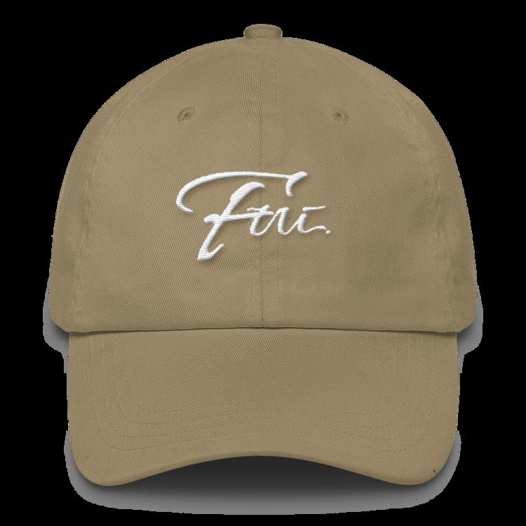 FUI CLASSIC DAD HAT- WHITE & KHAKI