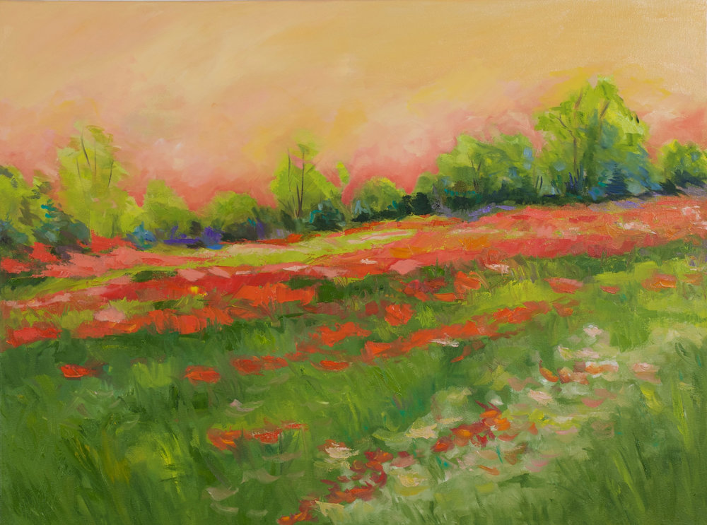 """""""Forever Blooming"""" - 30 x 40 inch"""