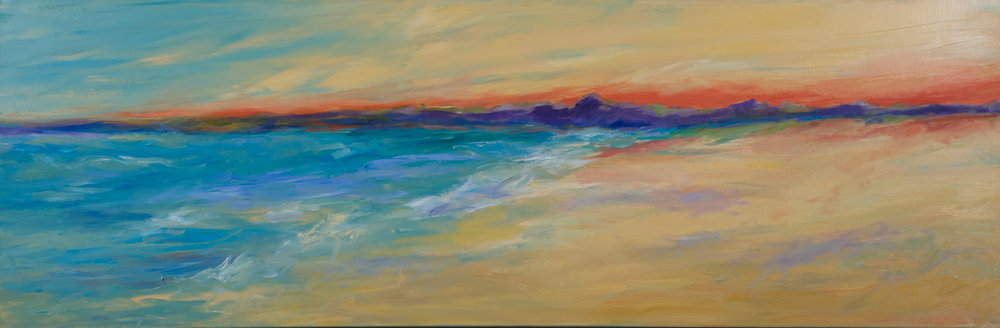 """Along the Beach"" - 20 x 60 inch"