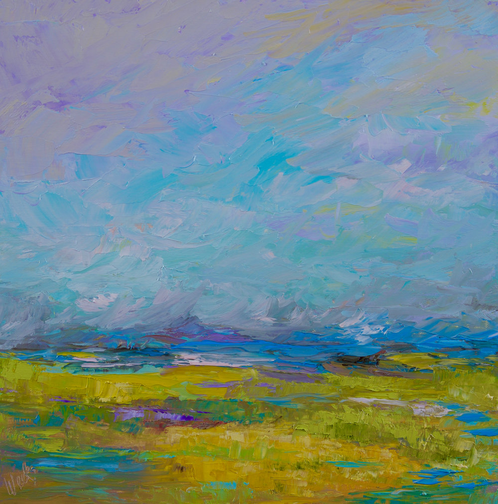 """Lavender Blue"" - 12 x 12 inch"