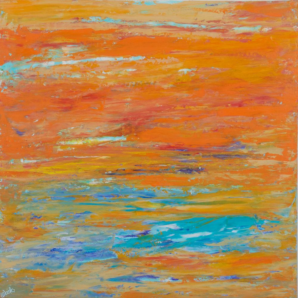 """Tangerine"" - 24 x 24 inch"