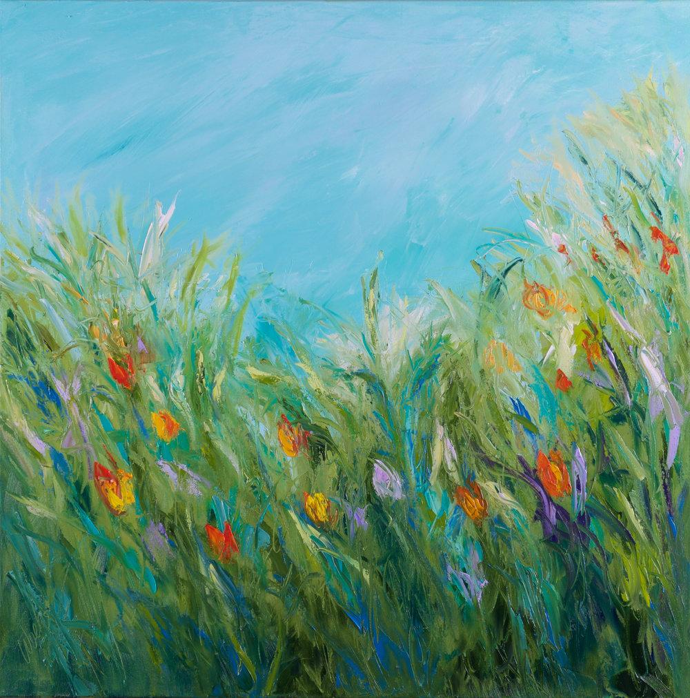 """Nature's Bouquet #2"" - 36 x 36 inch"