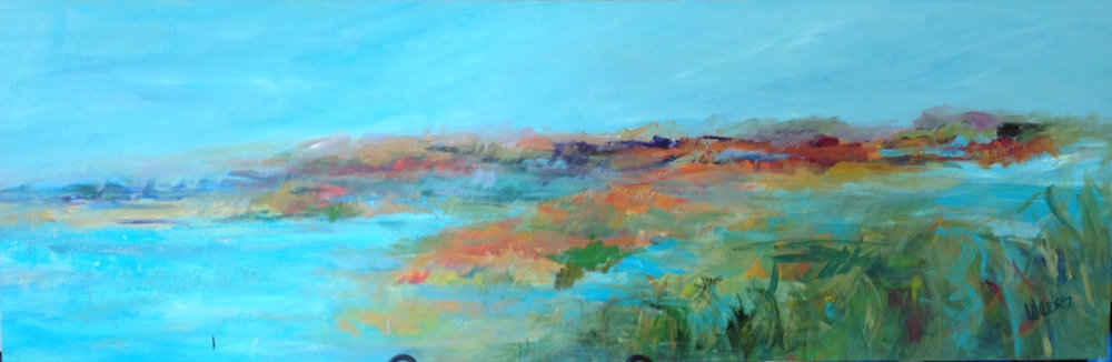 """Sweet Memories of Home"" - 20 x 60 inch"