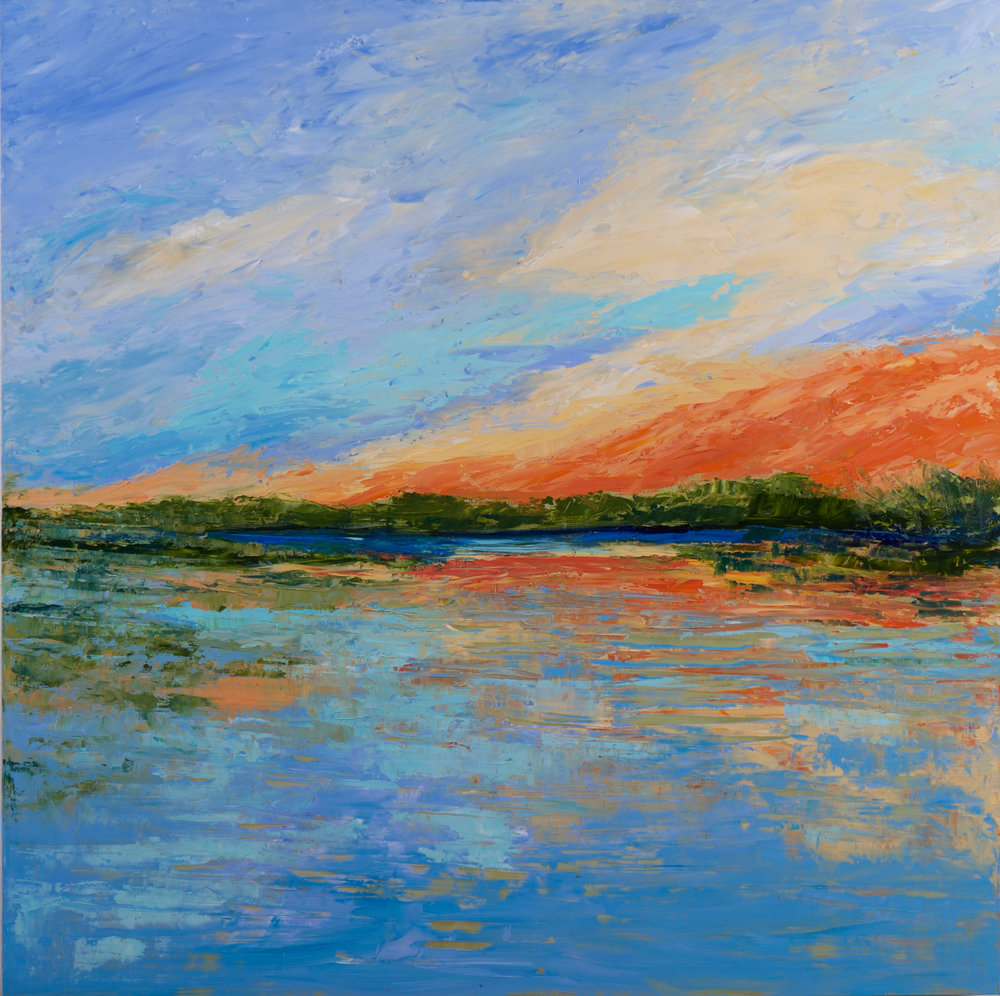 """""""Many Shades of Sunset"""" - 36 x 36 inch"""