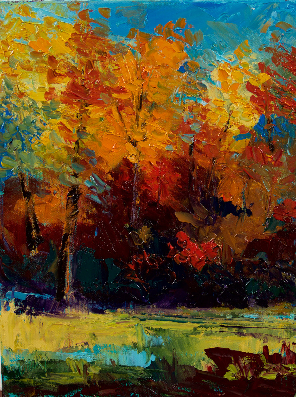 """SOLD - """"Into the Woods"""" - 12 x 9 inch"""