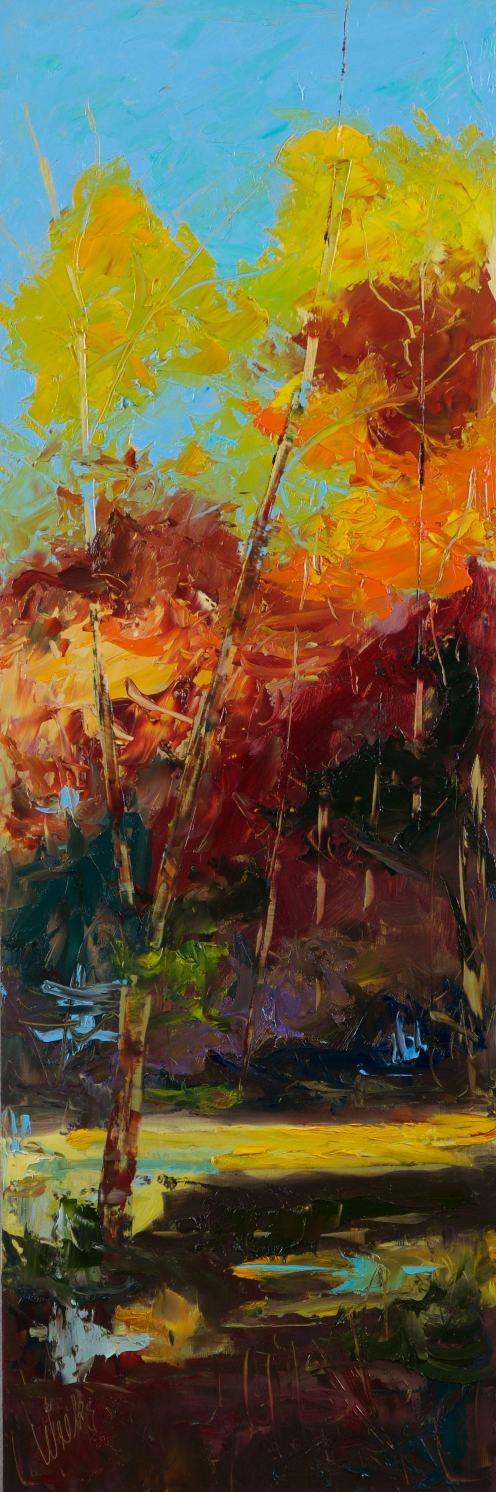 """""""Secrets of the Forest #1"""" - 36 x 12 inch"""