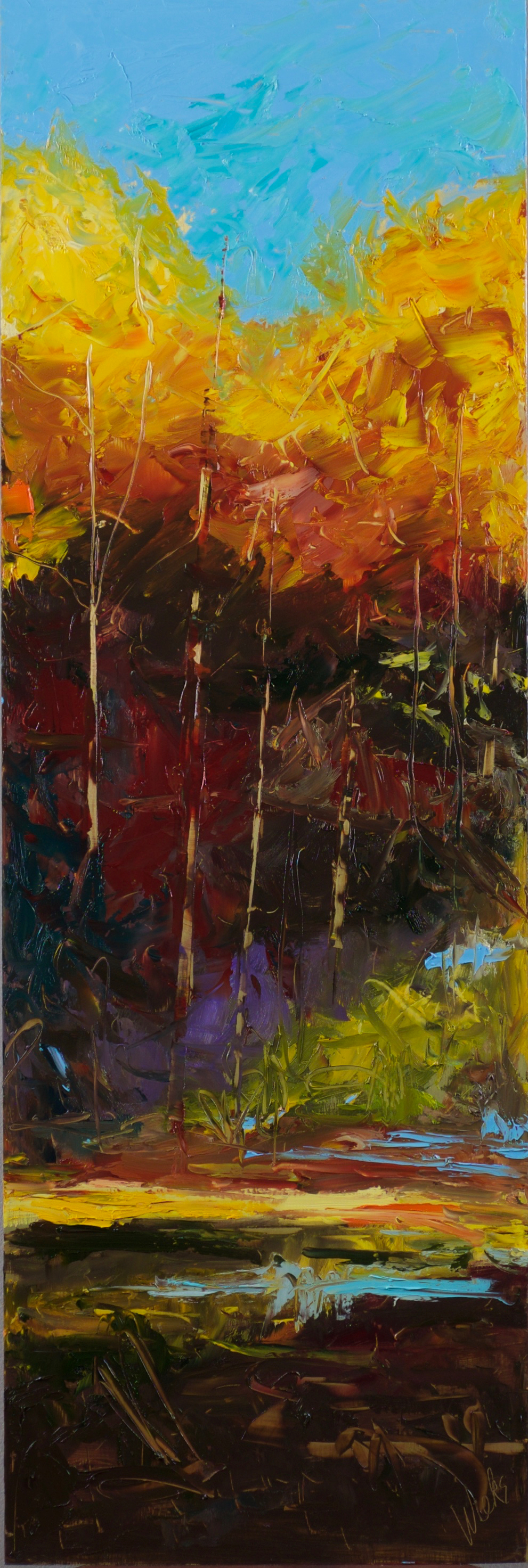 """""""Secrets of the Forest #2"""" - 36 x 12 inch"""