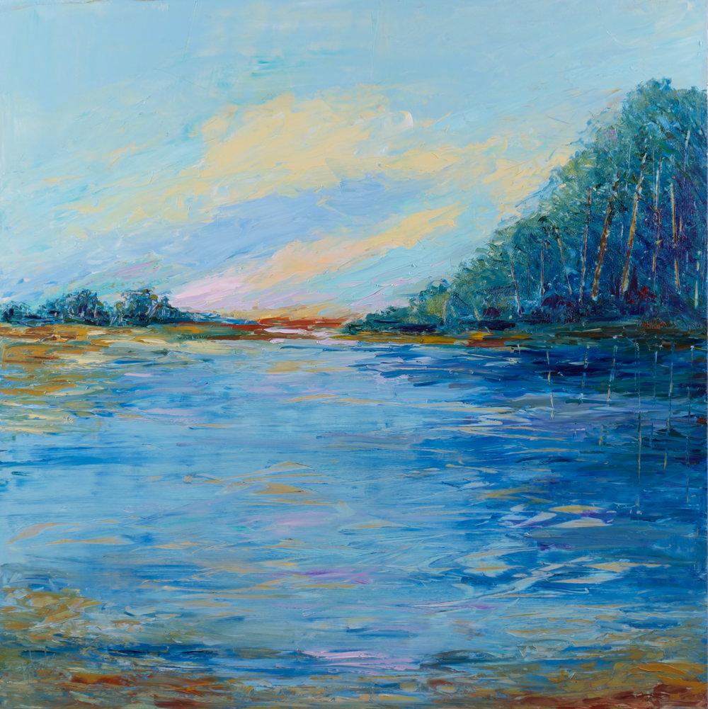 """Water Meditation"" - 36 x 36 inch"
