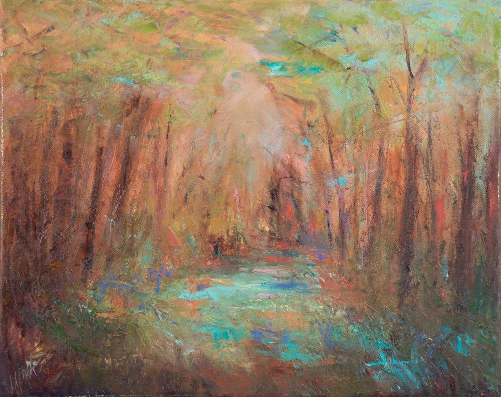 """""""Thru the Mist #2"""" - 16 x 20 inch"""