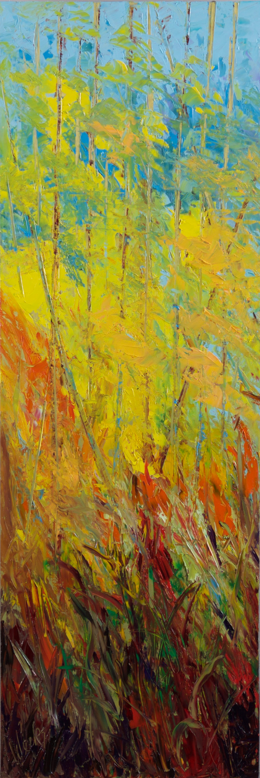 """In the Weeds"" - 36 x 12 inch"