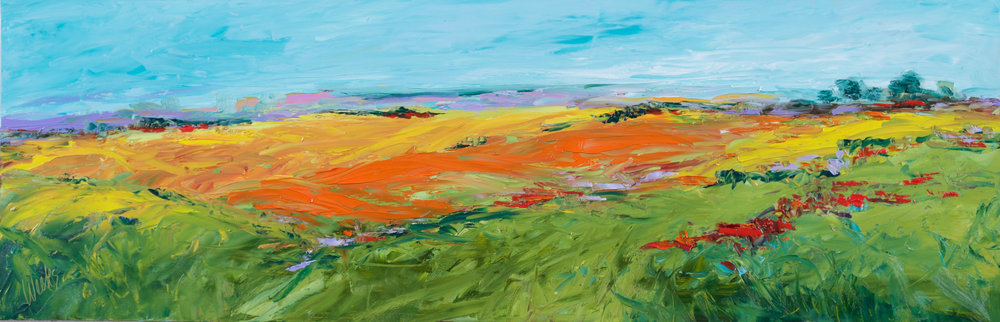 """The Rolling Hills of Summer"" - 12 x 36 inch"