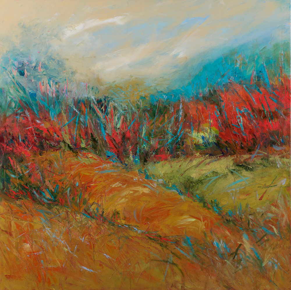 """""""And The Land Speaks to Us"""" - 36 x 36 inch"""