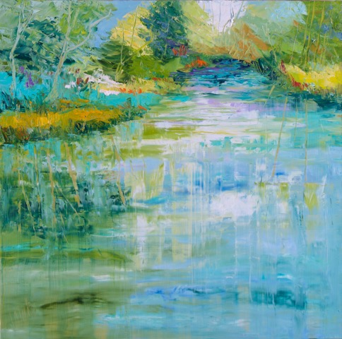 """Spring Reflections"" - 24 x 24 inch"
