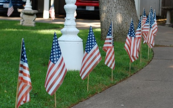 American flags - College-Glen Real Estate - www.CollegeGlenRealEstate.com - Doug Reynolds Realtor real estate agent specialist