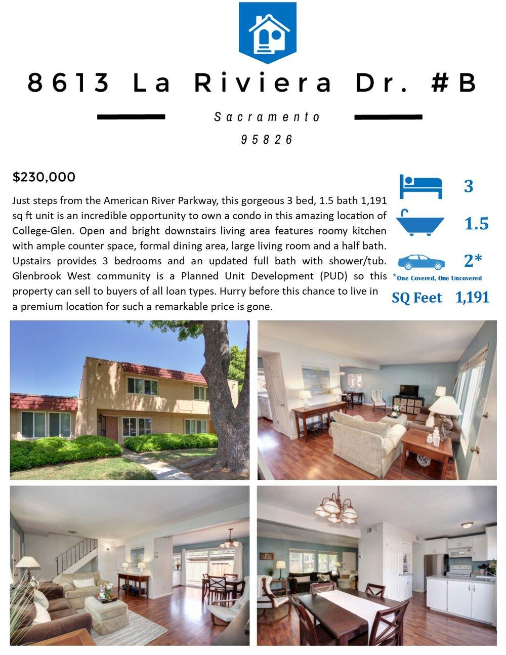 Flyer Front - 8613 La Riviera Dr #B, Sacramento, CA 95843.jpg