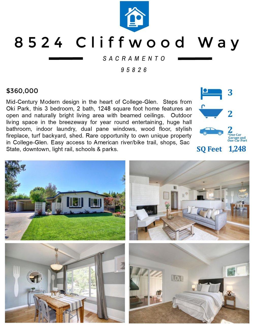 Flyer Front - 8524 Cliffwood Way Sacramento CA 95826.jpg