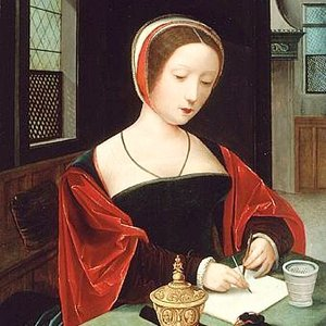 So who am I? - I am the creator and curator of the content on this site.And that's about all you need to know.The rest is simply story.  Image credit:  Wikimedia Commons Public Domain, Master of Female Half-Length, Saint Mary Magdalene at her writing desk