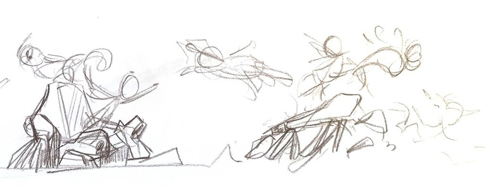 Composition Rough Sketch
