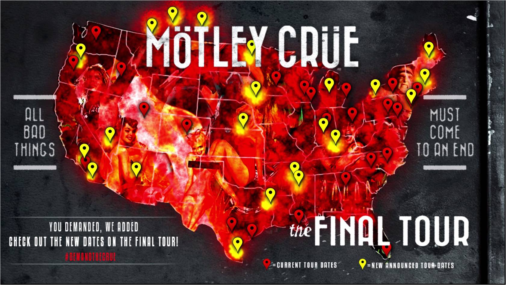 Last Additional North American Dates Of Final Tour Revealed Due To Overwhelming Fan Demand Mötley Crüe