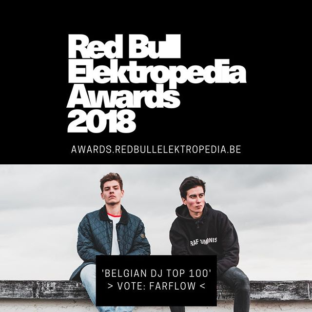 Have you voted for Wolf and Raf yet? . @farflowofficial are nominated for the Belgian DJ Top 100 again! . Give these guys some love x . P.S. They're releasing a brand new song tomorrow! 🎵 . @rafcyran @wolf_logist @redbullelektropedia  #RBEA18 #rbea #redbull #redbullelektropedia #rbe #awards • • • • • #vote #dj #producer #djlife #musicphotography #drumandbass #soundcloud #concertphotography #dnb #beats #musiclife #bestmusicshots #junglist #musicproducer #beatmaker #producerlife #djs #electronicmusic #producers #drumnbass #jungle