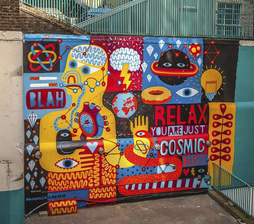 Zetland House mural, 2016