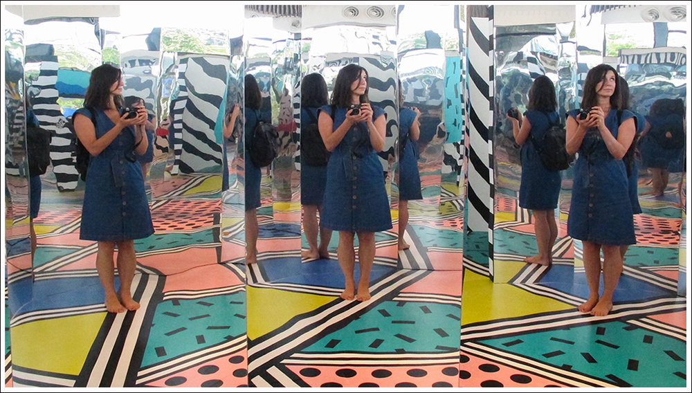 Me in the mirror maze!