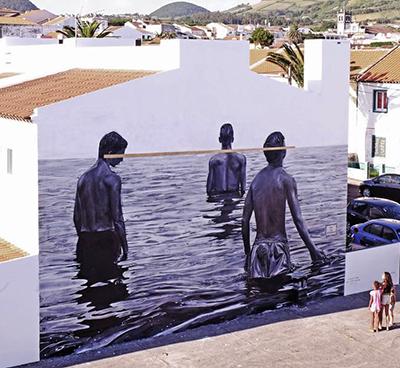 Mural painted for Walk&Talk public art festival Azores, Portugal, 2015
