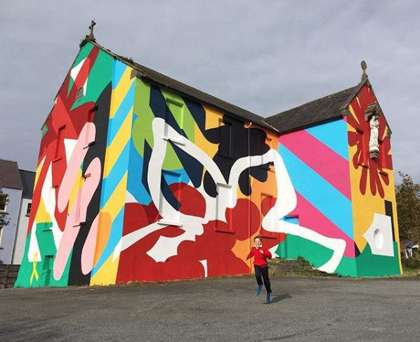 Mural for 'The old school house at The Convent of Mercy' - Westport, Co.Mayo, Ireland (2017)