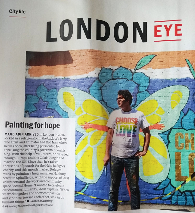 Majid's mural in Timeout