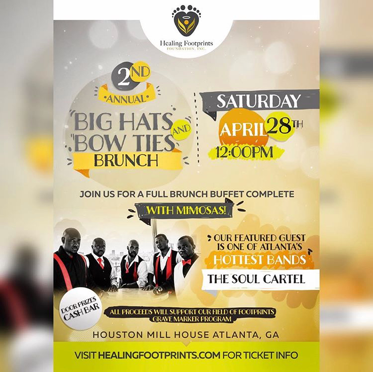 For my Sisters in Atlanta please support my sis @kierrasunae and @healingfootprints Foundation at their Big Hats and Bow Ties Brunch on Saturday, April 28! For more information visit  HealingFootprints.com  to get tickets.