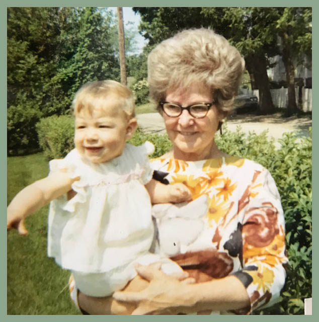 My mother (Dorthy Sickal) and our middle child Amy.