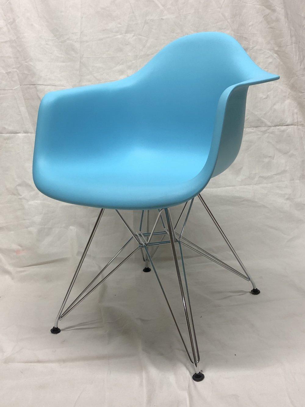 Molded Plastic Arm Chair - $25