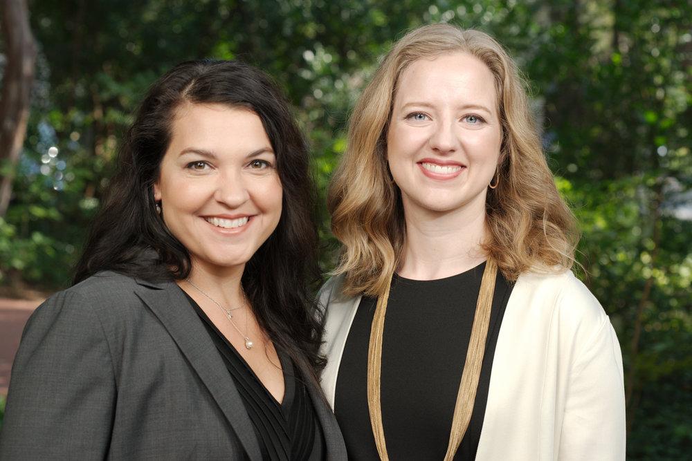 Eleanor Ruffner and Lauren Schoenbaum