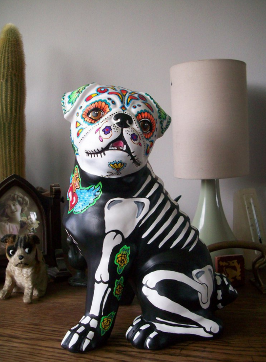 The best ceramic day of the dead pug!