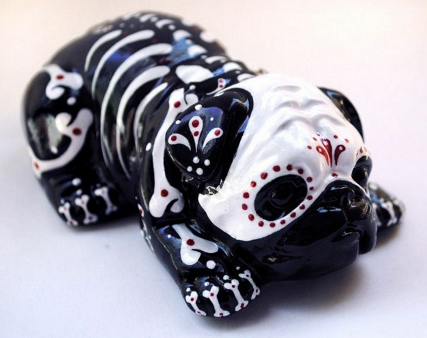 a ceramic day of the dead pug!